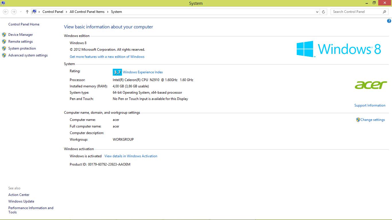 Acer Aspire E1 510 Drivers For Windows 10