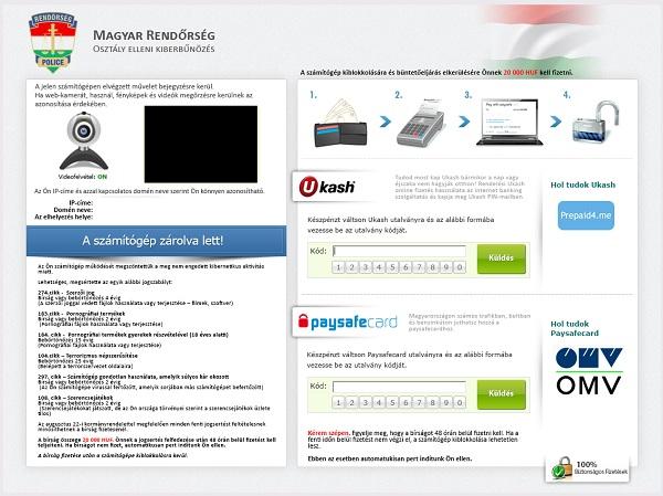 Magyar Rendőrség Kiberbűnözés - vírus