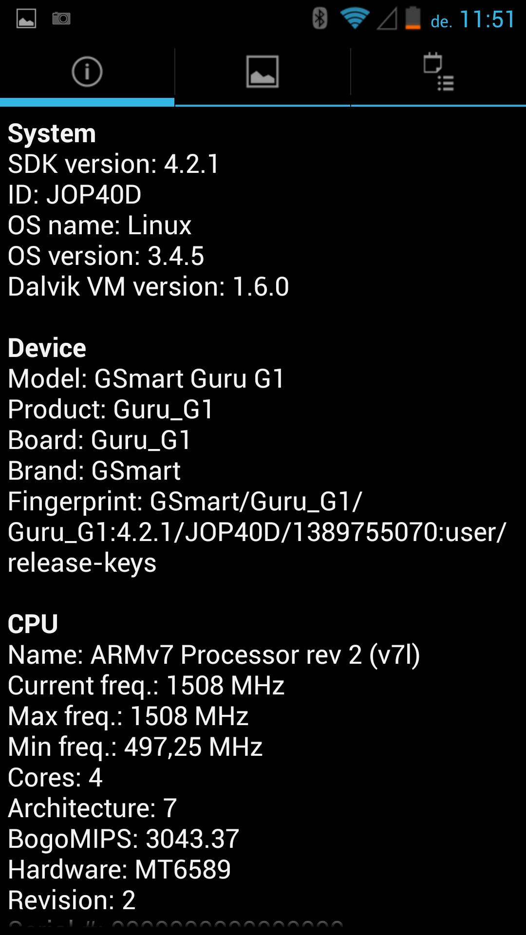 Gigabyte GSmart Guru G1 - Quadrant Benchmark