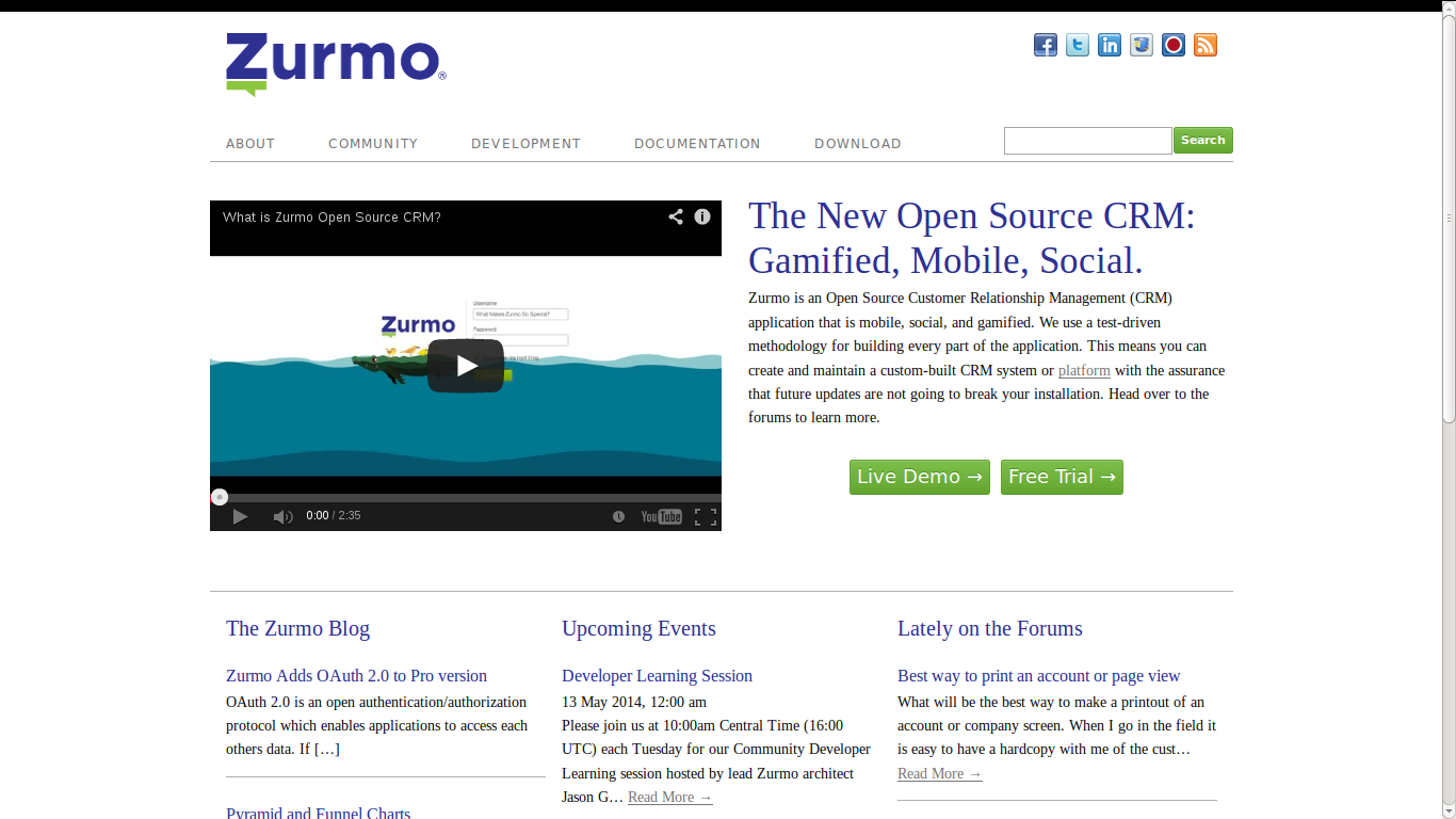 Zurmo - Open Source CRM