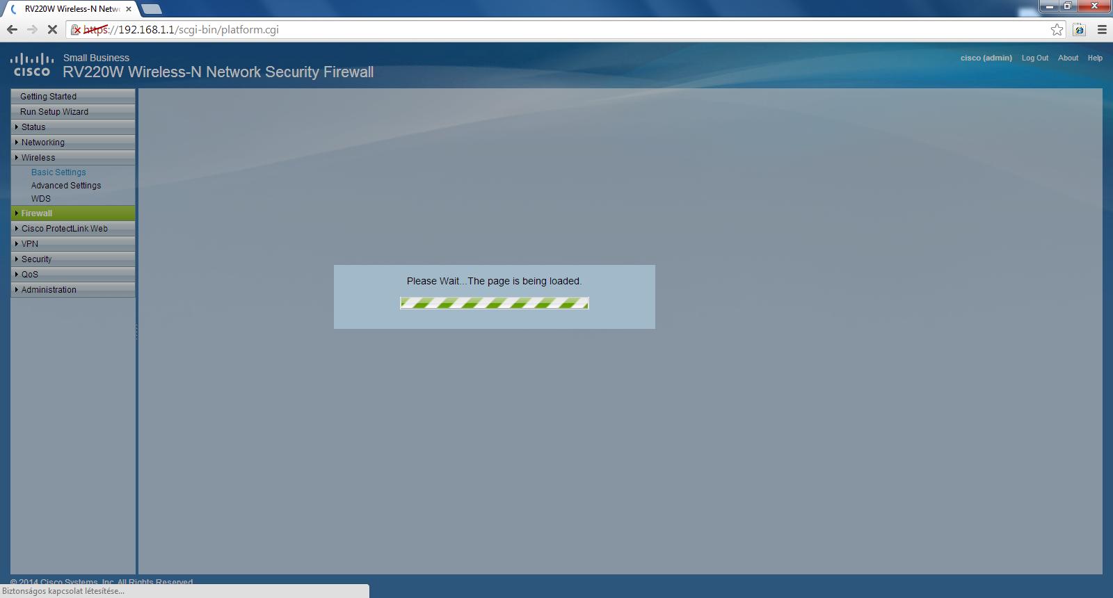 Lassú Webadmin felület