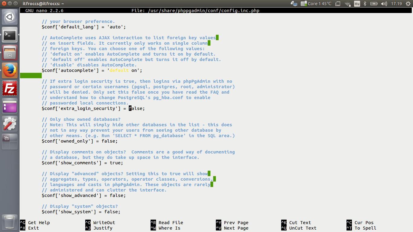 Ubuntu 14.04 LTS - LAMP server - PostgreSQL - phpPgAdmin install