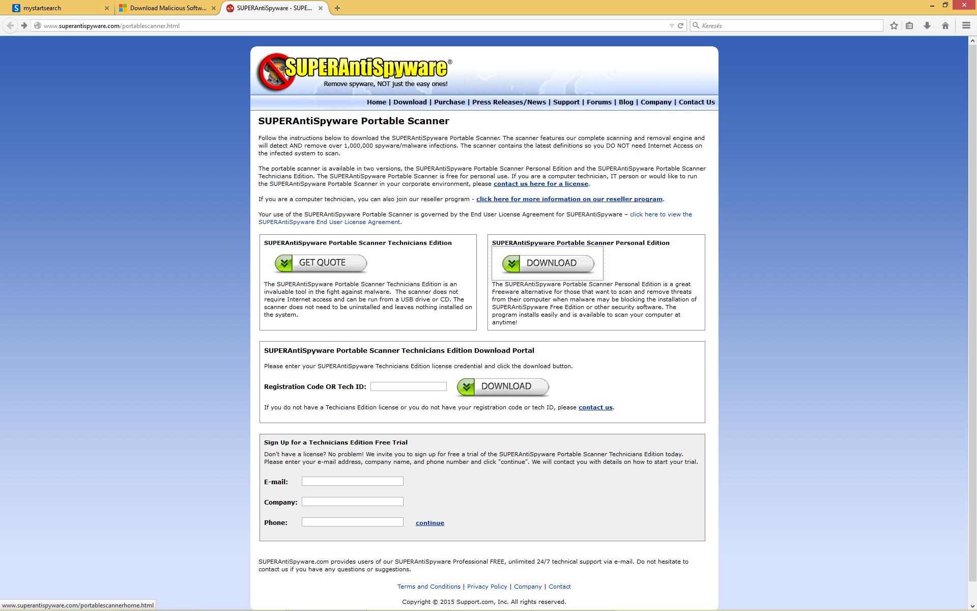 mystartsearch.com - malware - eltávolítása