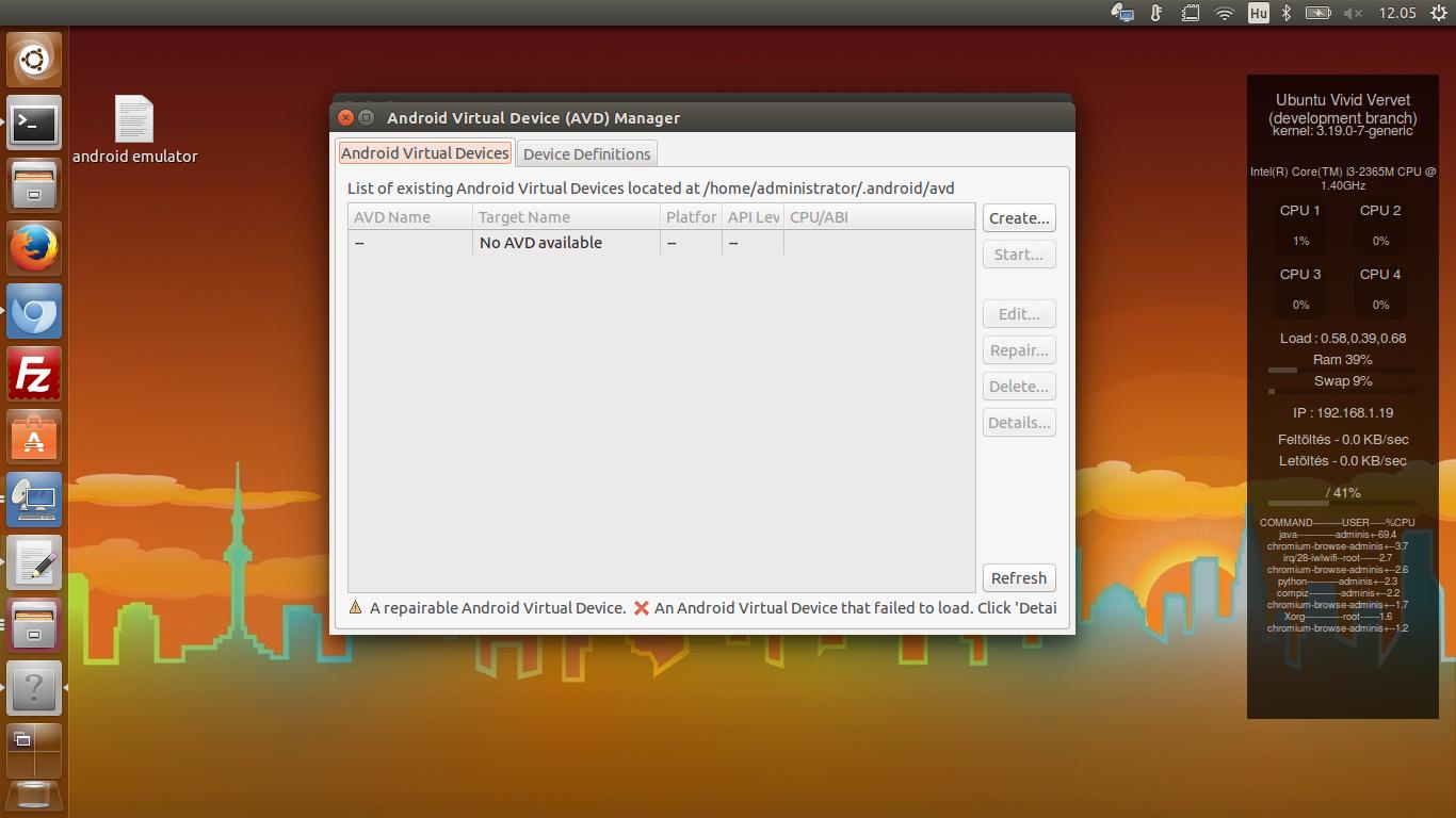 Ubuntu 15.04 - Android Lollipop Emulator