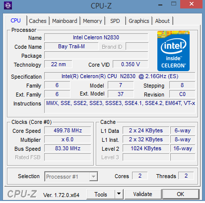 HP Stream 13 - CPU-Z - itfroccs.hu
