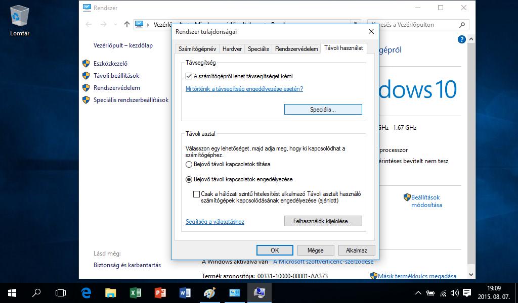 Windows 10 RDP - Távoli asztal kapcsolat beállítása
