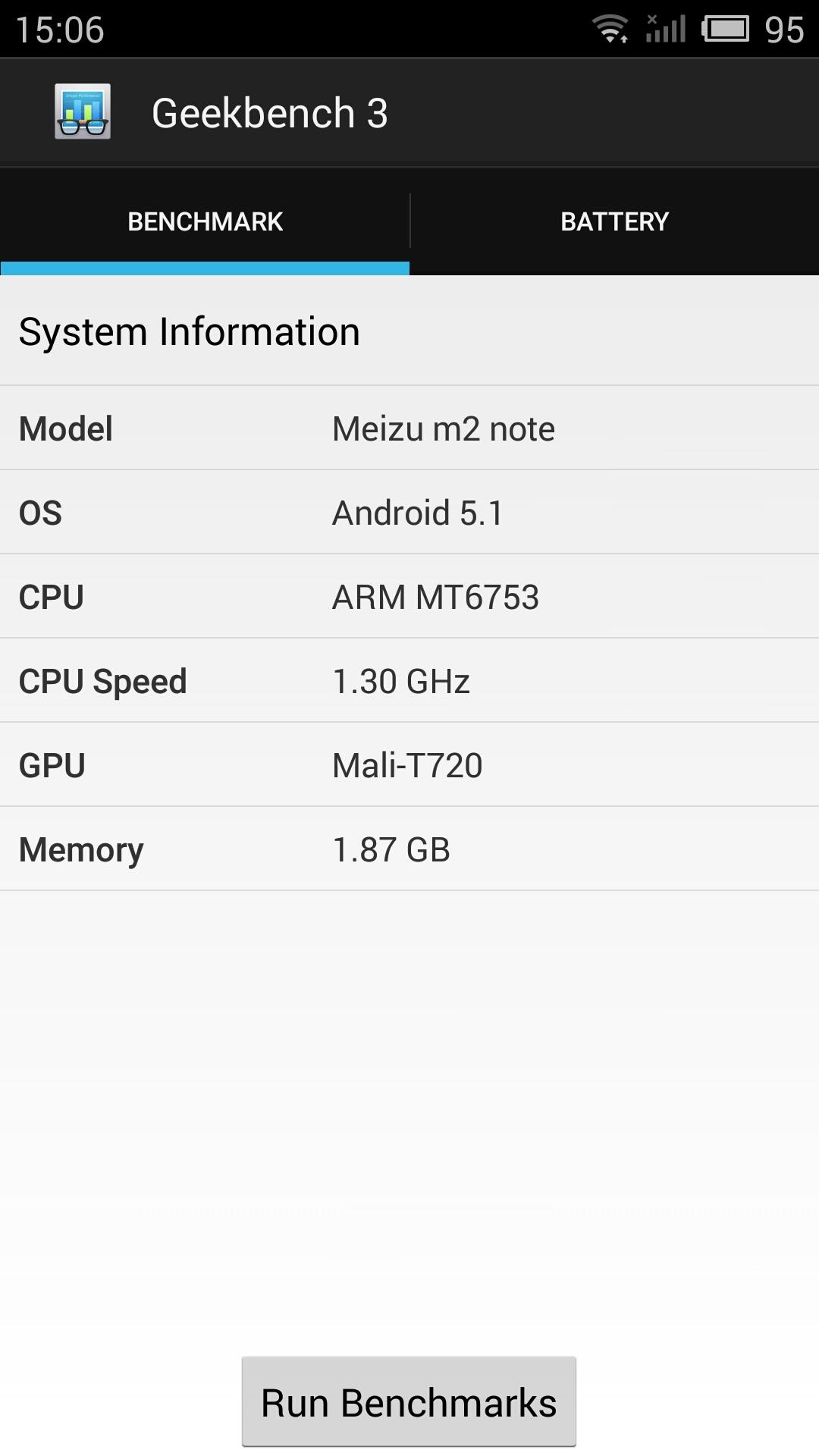Meizu M2 Note - Geekbench 3