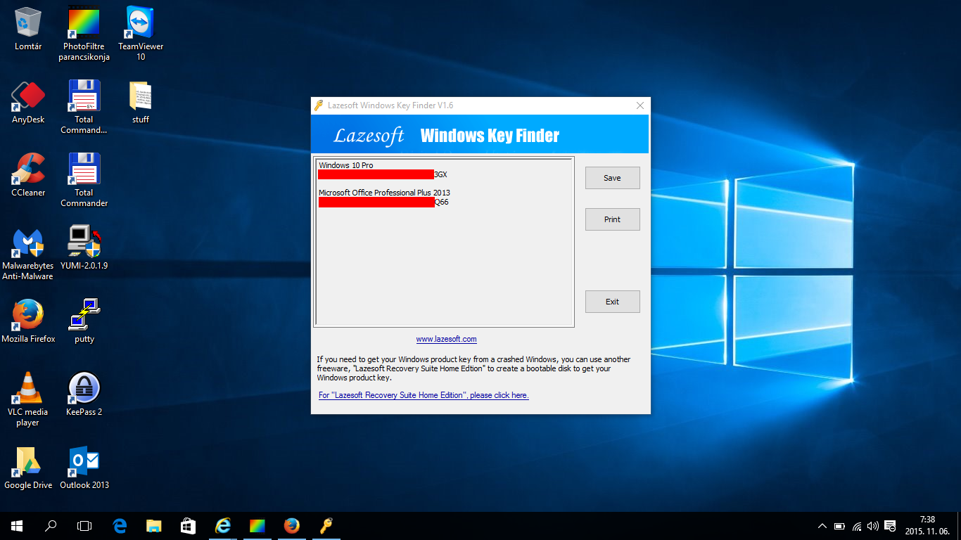 Windows and Office key finder