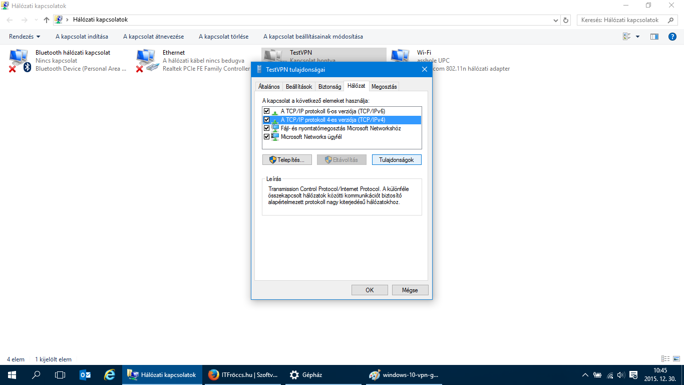 Vpn gateway in windows 10