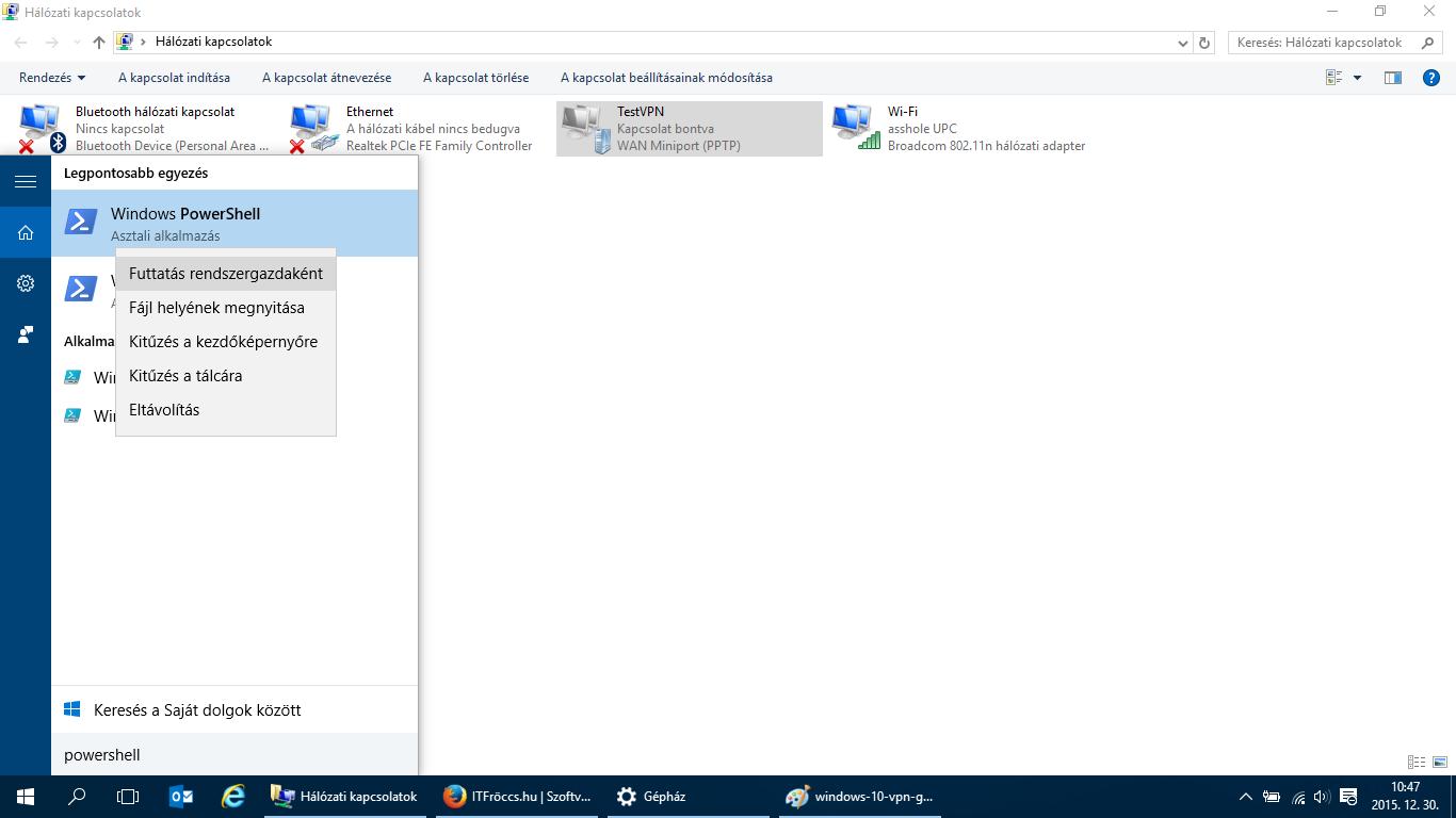 Microsoft Windows 10 VPN kapcsolódás után nincs internet, vagy lassú