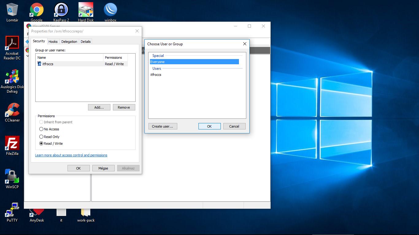 VisualSVN Server repó migrálása GitLab szerverre - Windows 10 rendszeren