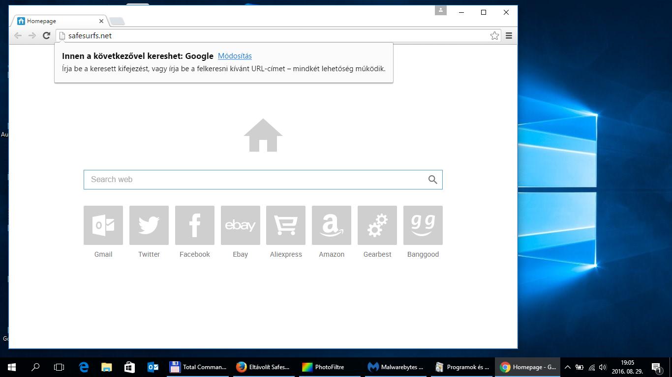safesurfs.net - malware - eltávolítása