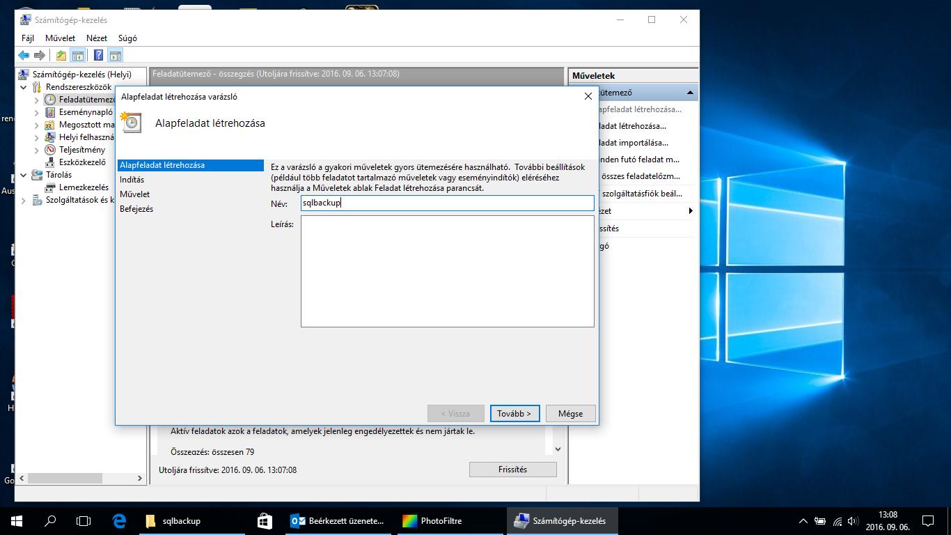 Microsoft SQL Server 2008 R2 ütemezett backup batch fájlok futtatásával