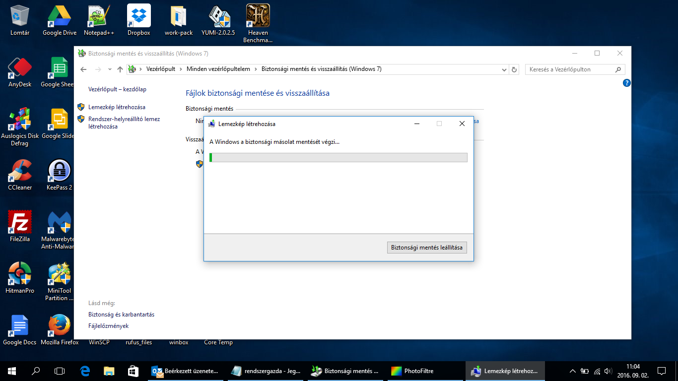 Biztonsági mentés és visszaállítás (Windows 7, Windows 8, Windows 8.1, Windows 10)Biztonsági mentés és visszaállítás (Windows 7, Windows 8, Windows 8.1, Windows 10)