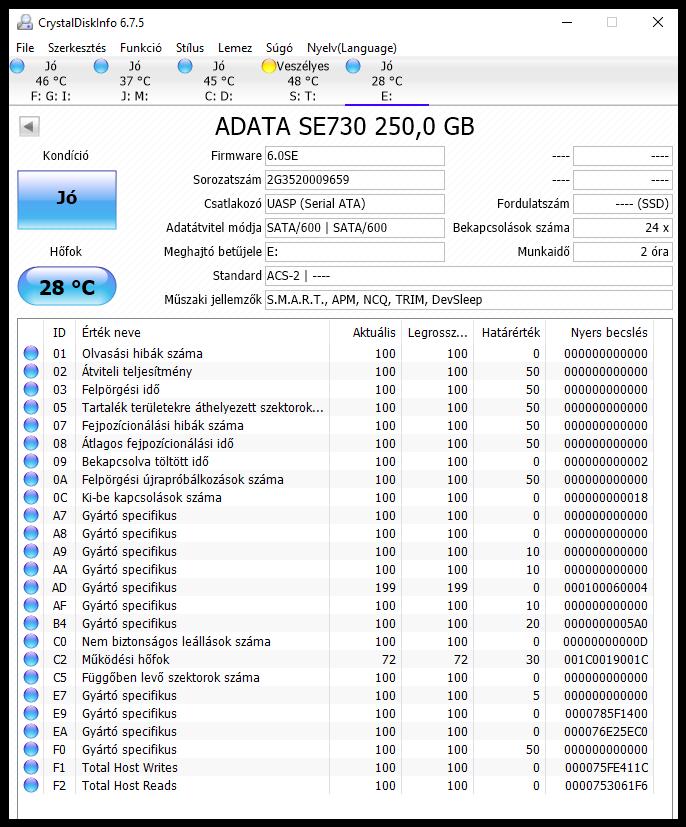 ADATA SE730 Crystaldiskinfo - www.itfroccs.hu