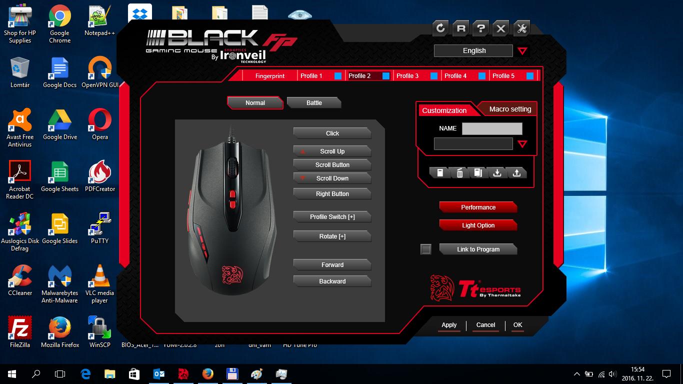 ThermalTake eSPORTS BLACK FP