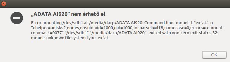 exFAT filerendszerű Flash drive használata Ubuntuban - www.itfroccs.hu