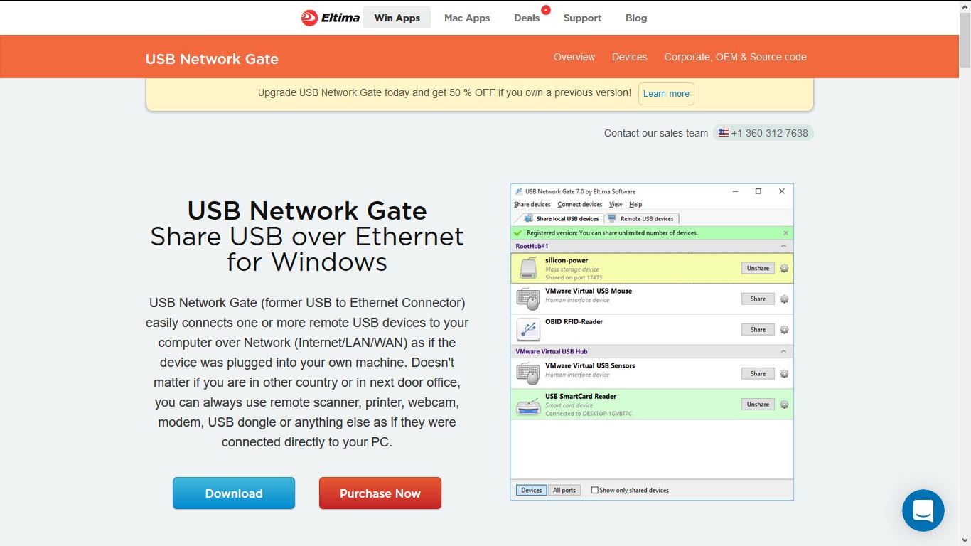 USB Scanner megosztása hálózaton - Eltima USB Network Gate