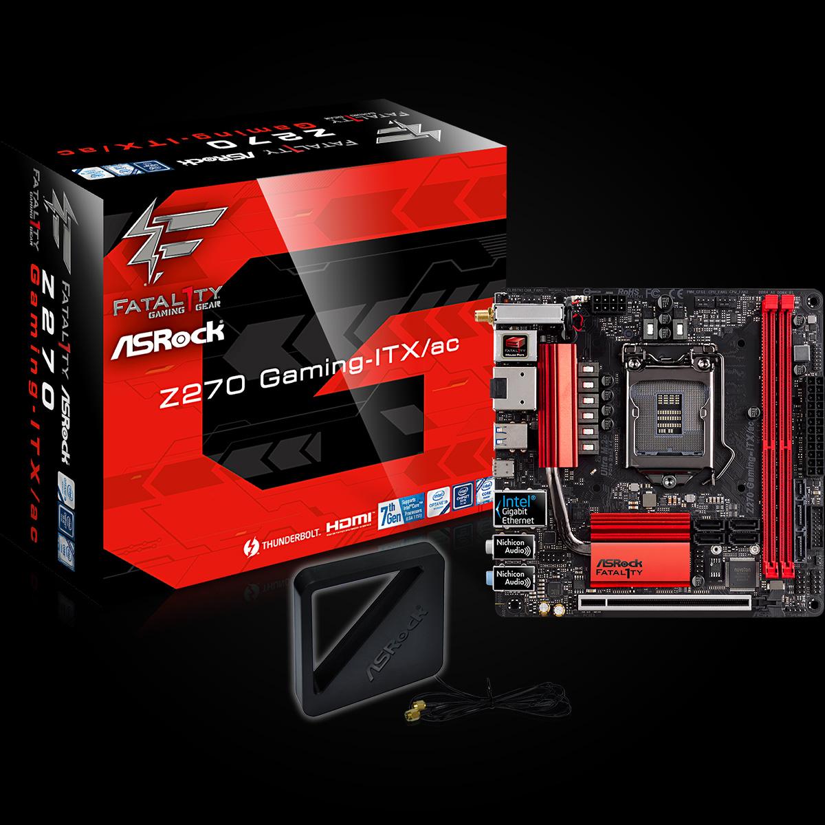 ASRock Fatal1ty Z270 Gaming-ITX/ac alaplap bemutató - www.itfroccs.hu