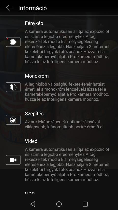 Huawei Mate 9 - Hátoldali kamera beállítások - www.itfroccs.hu