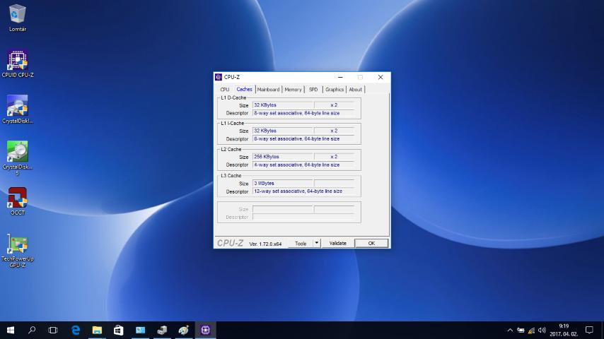 Dell Inspiron 3567 notebook bemutató -CPU-Z - www.itfroccs.hu