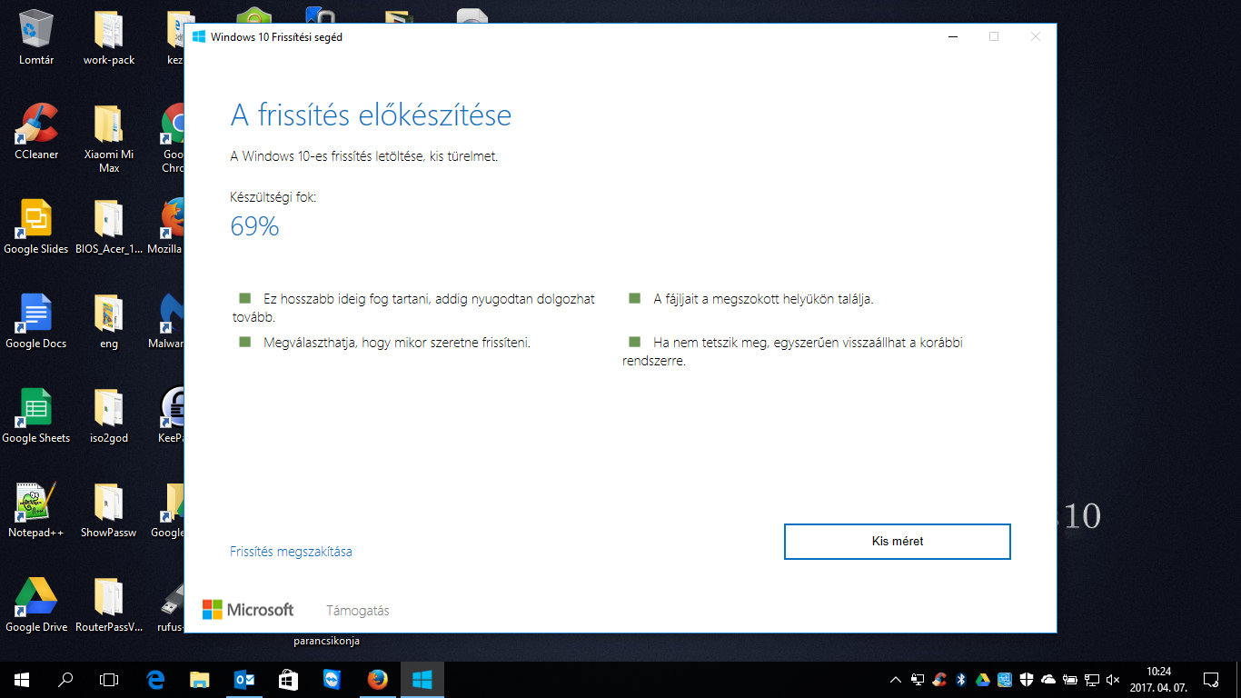 "Windows 10 Creators Update - Csak úgy hívom, hogy a ""Touchscreen Update"""