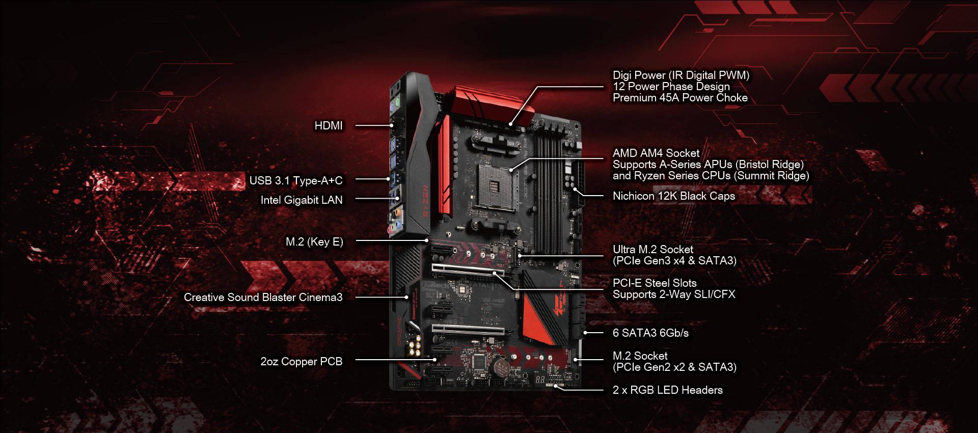 AsRock Fatal1ty X370 Gaming K4 alaplap bemutató - www.itfroccs.hu
