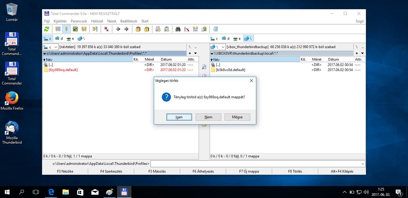 Mozilla Thunderbird levelezés költöztetése Windows 10