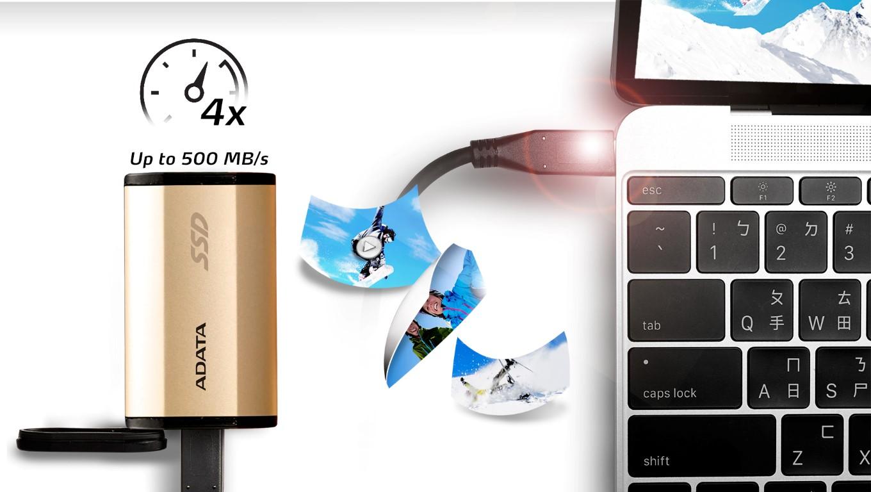 ADATA bemutatja az SE730H 3D NAND USB-C külső SSD-t