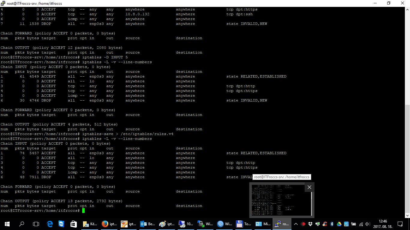 iptables-persistent - alapbeállítások, avagy hogyan konfiguráljunk magunknak egy alap linux tűzfalat gépünkre