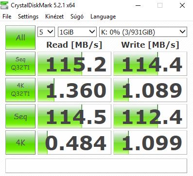 Acer Aspire E 17 - Aspire E5-774G-552L TESZT - Western Digital WD10JPVX 1TB HDD CrystalDiskMark