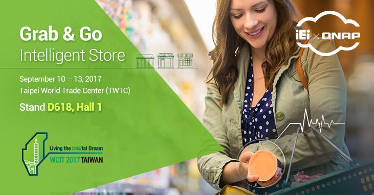 """A jövő boltjai: a QNAP és az IEI bemutatja a """"fogd és vidd"""" intelligens szupermarketet a WCIT 2017-en"""