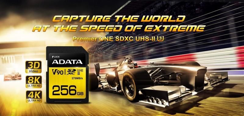 Az ADATA megszerezte az SD A1 és V10/V30 minősítéseket a Premier és Premier Pro memóriakártyákra