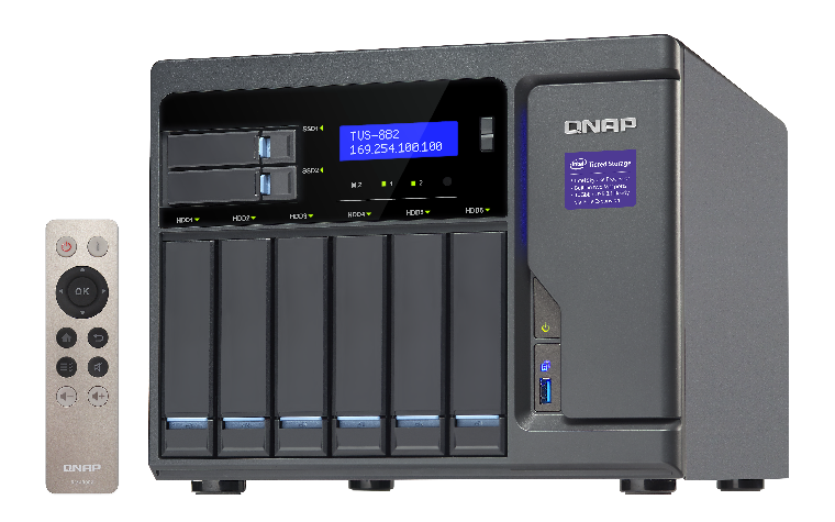 QNAP TVS-882 8 fiókos Turbo vNAS - Ha brutális teljesítmény kell!