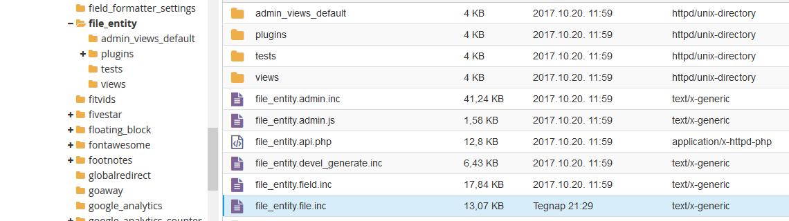 Drupal 7 file_entity modul frissítés után, a képeknél a TITLE, ALT mezők feliratai eltűnnek