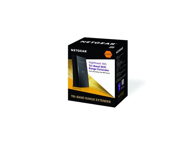 A NETGEAR bemutatja a Nighthawk X6S Tri-band WiFi hatótáv növelőt szabadalmaztatott FastLane3 technológiával