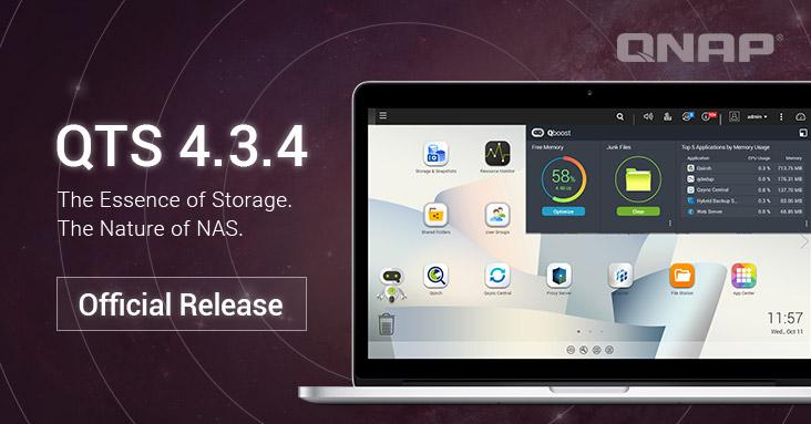 A QNAP QTS 4.3.4 már hivatalosan is elérhető! Frissítsd a jobb pillanatfelvétel funkcióért, a továbbfejlesztett teljesítmény és a jobb multimédia élményért