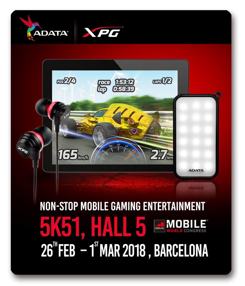 ADATA és XPG mobil gaming megoldások az MWC 2018-on