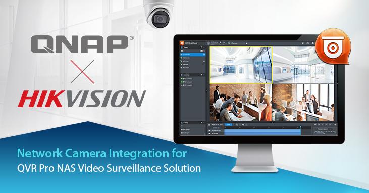 A QNAP integrálta a Hikvision H.265 hálózati kamerákat, ezzel is bővítve az IP megfigyelőrendszerekkel való kompatibilitást