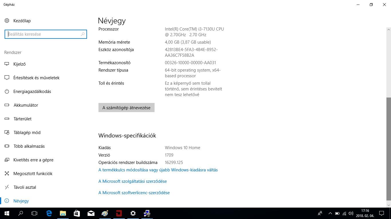 Acer TravleMate P2 (P2510) notebook bemutató - Rendszerinfó