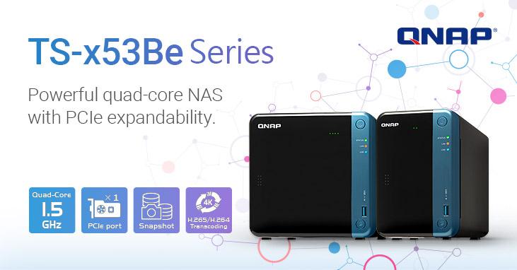 A QNAP bemutatja a Quad-core TS-253Be és a TS-453Be NAS-t, M.2 SSD és 10GbE bővíthetőséggel, a professzionális tárolási és multimédiás alkalmazásokhoz