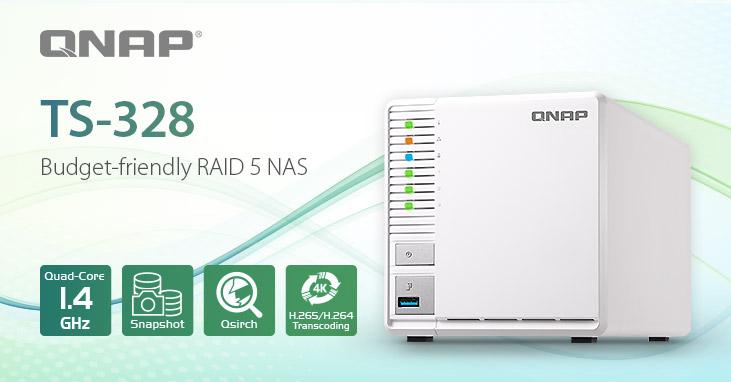 A QNAP bemutatja az első három rekeszes TS-328 RAID 5 NAS-t