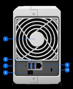 Synology DiskStation DS218j bemutató - 2 fiókos adattárolás