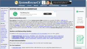 Windows 10 elfelejtett jelszó reset - SystemRescueCd