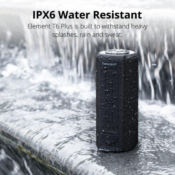 Tronsmart T6 Plus - IPX6 hordozható bluetooth hangszóró