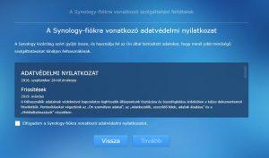 Synology NAS alaptelepítés