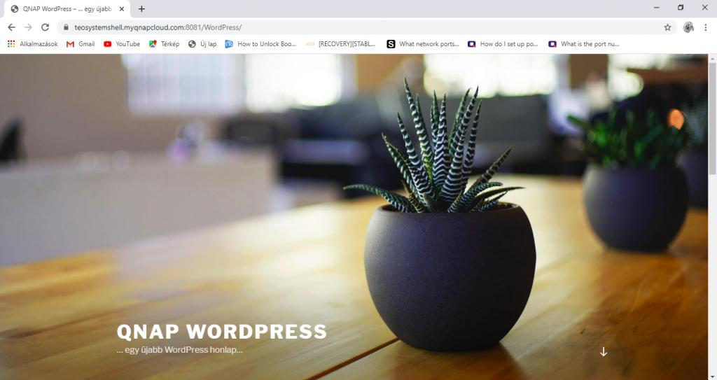 WordPress, Joomla telepítése és elérése kívülről!   QNAP NAS